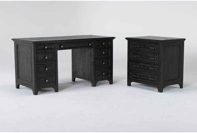 Valencia 2 Piece Office Set With Executive Desk + Lateral File - 360