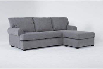 Hampstead Graphite Sofa With Reversible Chaise