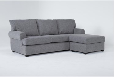"""Hampstead Graphite 97"""" Sofa With Reversible Chaise"""