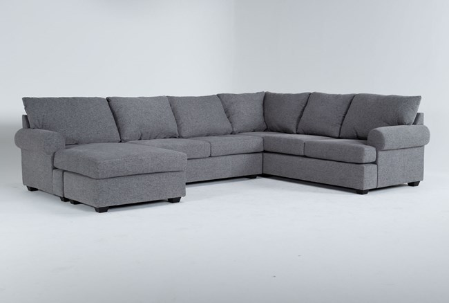 """Hampstead Graphite 140"""" 2 Piece Sectional With Left Arm Facing Chaise - 360"""