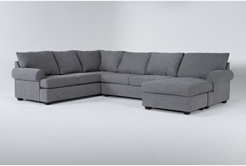 Hampstead Graphite 2 Piece Sectional With Right Arm Facing Chaise
