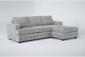 Bonaterra Dove Sofa With Reversible Chaise