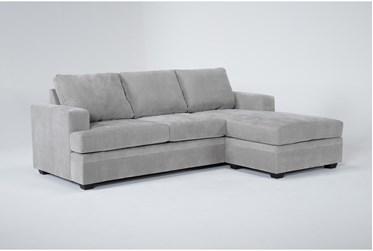 "Bonaterra Dove 97"" Sofa With Reversible Chaise"