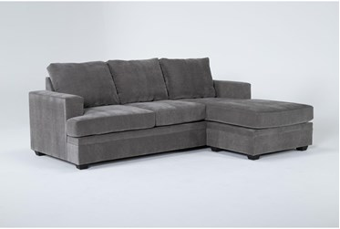 """Bonaterra Charcoal 97"""" Sofa With Reversible Chaise"""