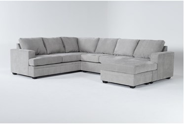 """Bonaterra Dove 127"""" 2 Piece Sectional With Right Arm Facing Chaise"""