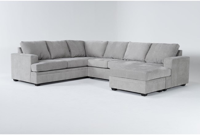 """Bonaterra Dove 127"""" 2 Piece Sectional With Right Arm Facing Chaise - 360"""