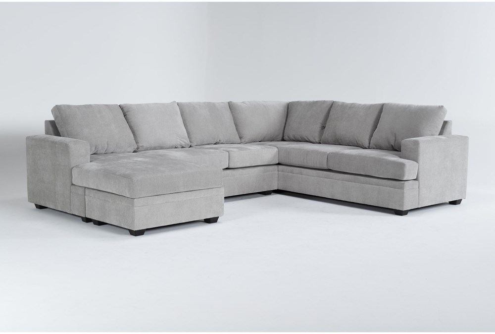 """Bonaterra Dove 127"""" 2 Piece Sectional With Left Arm Facing Chaise"""