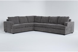 """Bonaterra Charcoal 127"""" 2 Piece Sectional With Right Arm Facing Sofa"""