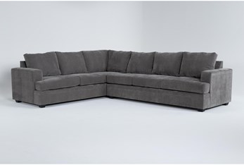 Bonaterra Charcoal 2 Piece Sectional With Right Arm Facing Sofa