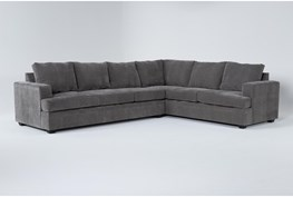 """Bonaterra Charcoal 127"""" 2 Piece Sectional With Left Arm Facing Sofa"""
