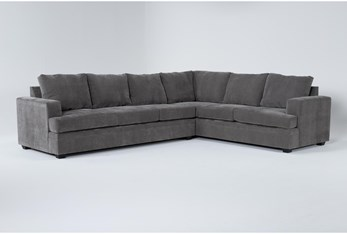 Bonaterra Charcoal 2 Piece Sectional With Left Arm Facing Sofa