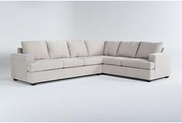 "Bonaterra Sand 127"" 2 Piece Sectional With Left Arm Facing Sofa"