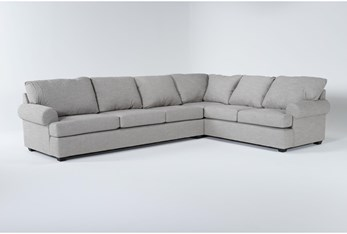 Hampstead Dove 2 Piece Sectional With Right Arm Facing Sofa