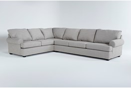 """Hampstead Dove 140"""" 2 Piece Sectional With Right Arm Facing Sofa"""