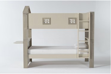 Willow Twin Over Twin House Bunk Bed With Desk Top