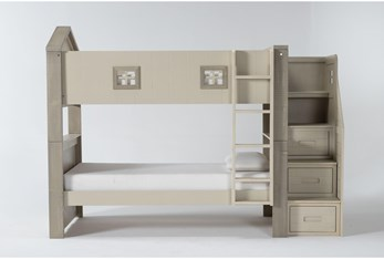 Willow Twin Over Twin House Bunk Bed With Stairway Chest