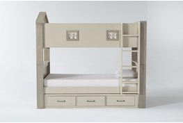 Willow Twin Over Twin House Bunk Bed With Underbed Storage