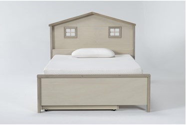 Willow Twin Panel House Bed With Trundle