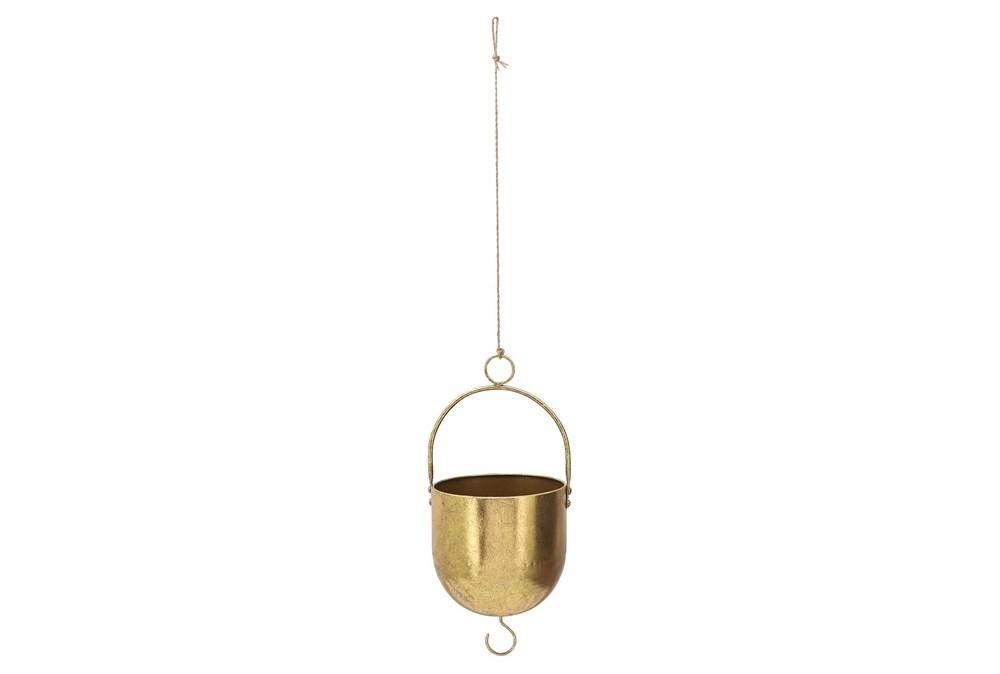 """6"""" Gold Metal Hanging Planter"""