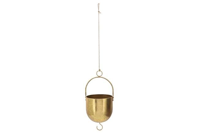 """6"""" Gold Metal Hanging Planter - 360"""