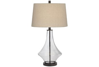 28 Inch Glass Table Lamp