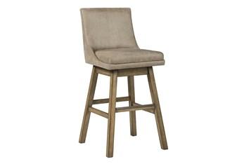 Payson Beige Upholstered Swivel 30 Inch Bar Stool Set Of 2