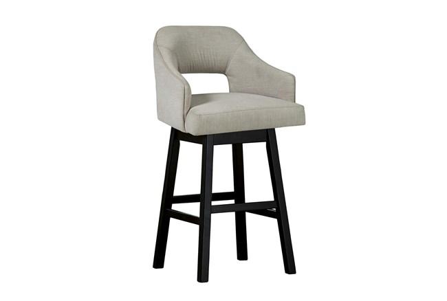 Remy White Upholstered Swivel 31 Inch Bar Stool Set Of 2 - 360