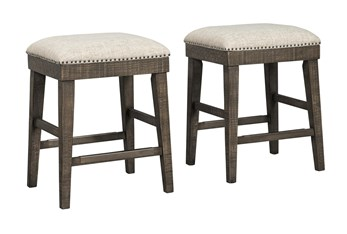 Rowland Backless Upholstered 24 Inch Counter Stool Set Of 2