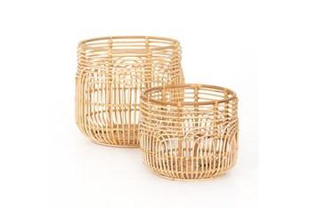 Rattan Basket Set Of 2