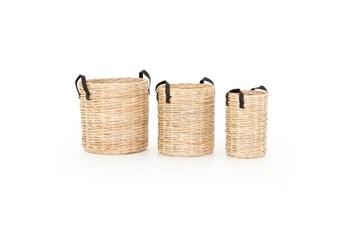 20X20 Natural Rattan Baskets Set Of 3