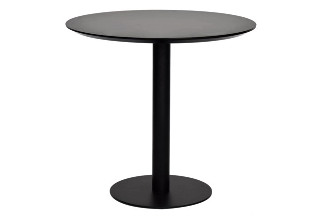 Lambert Black 32 Inch Bistro Table - 360