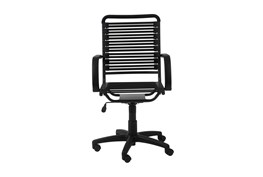 Uppsala Black And Graphite High Back Flat Bungee Desk Chair