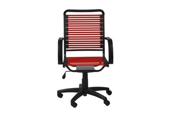 Uppsala Red And Graphite High Back Flat Bungee Desk Chair