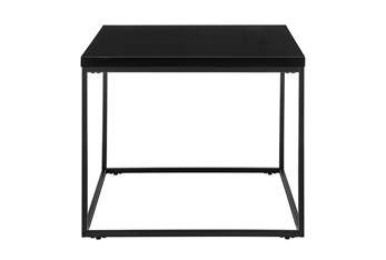 Riley High Gloss Black End Table With Matte Black Base