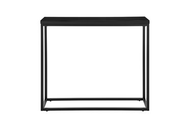 Riley High Gloss Black 35 Inch Console Table With Matte Black Base