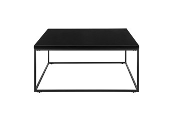 Riley High Gloss Black Square Coffee Table With Matte Black Base