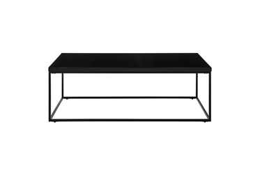 Riley High Gloss Black Rectangle Coffee Table With Matte Black Base