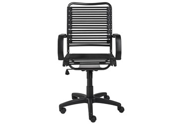 Oslo Black And Graphite High Back Bungee Desk Chair