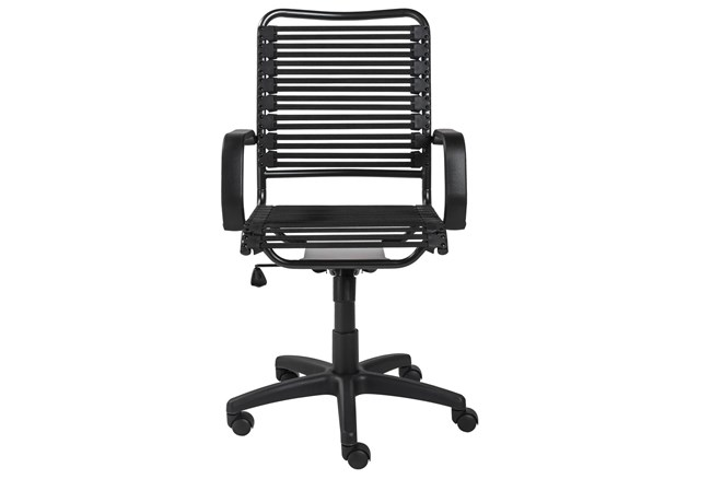 Oslo Black And Graphite High Back Bungee Desk Chair - 360
