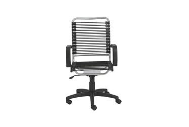 Bergen Black And Aluminum High Back Bungee Desk Chair