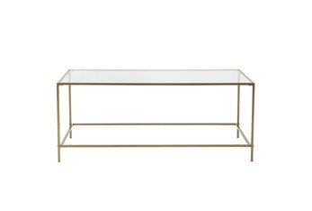Zola Glass Coffee Table With Brass Base