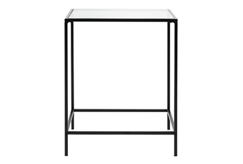 Zola Glass End Table With Black Base