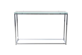 Shane Clear Glass 47 Inch Console Table