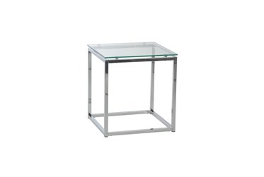 Shane Clear Glass End Table