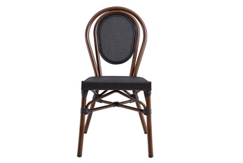Whittaker Black And Brown Indoor/Outdoor Stacking Side Chair - Set Of 2