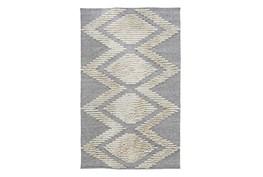 8'X10' Outdoor Rug- Gray Geometric Shag