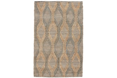 2'X3' Rug- Natural And Mineral Blue Exaggerated Geometric