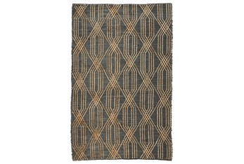 2'X3' Rug- Charcoal Blue Woven