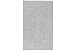 8'X10' Rug- Tribal Gray And Ivory With Border