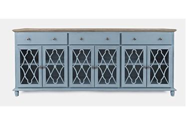 Farrington Blue 86 Inch 6 Door Sideboard